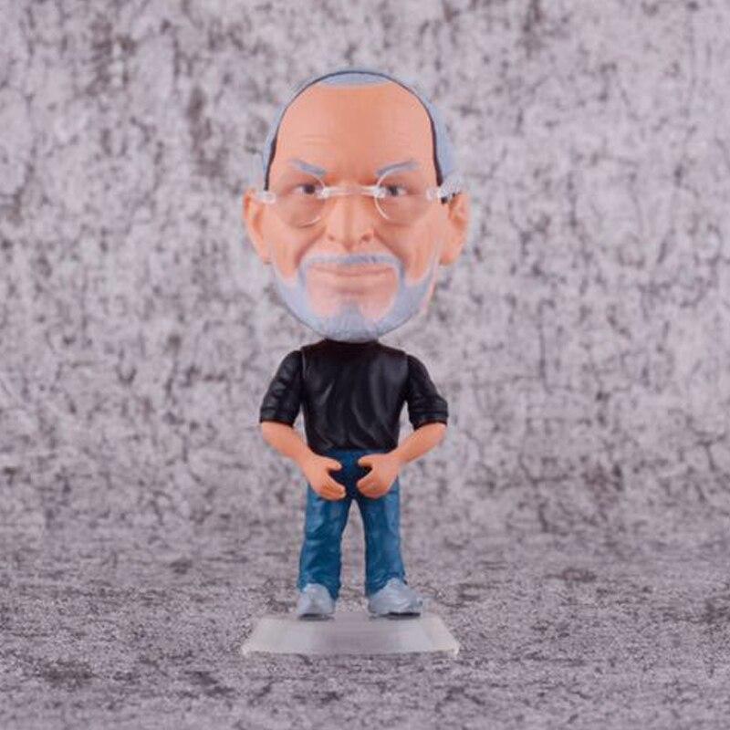 Juguetes de modelos de muñecas 8cm figura de Steve Jobs versión linda de APPLE 12 juntas móviles ojos 3D muñecas chinas juguetes con accesorios ropa y joyería figura de disfraz Nake Muñeca China juguete para niñas
