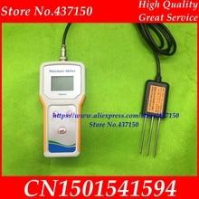 Sensor de condutividade elétrica do solo + umidade + temperatura e solo testador umidade medidor ec sensor com luz negra novo em estoque