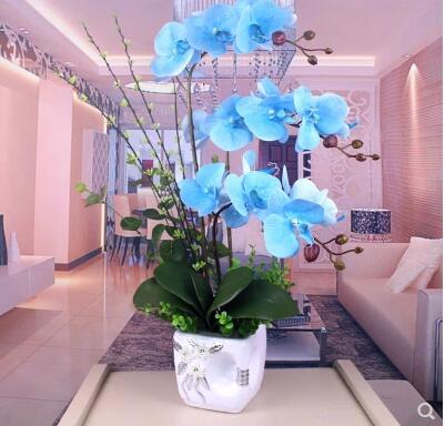 Fleurs artificielles Simulation de Phalaenopsis fleurs ameublement décoratif fleur suite salon - 3
