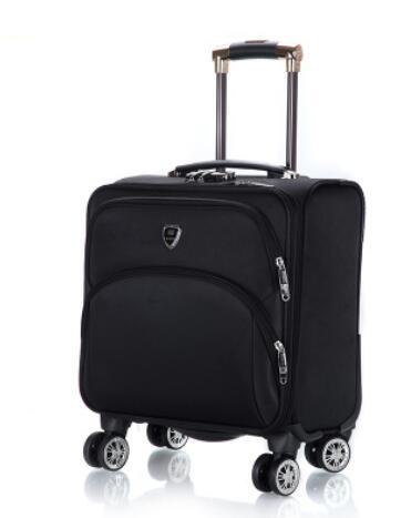 18 นิ้วผู้ชาย Spinner กระเป๋าเดินทางกระเป๋าเดินทาง Oxford Cabin Boarding กระเป๋าเดินทางกลิ้งกระเป๋าล้อเดินทาง Wheeled กระเป๋าเดินทาง-ใน กระเป๋าเดินทางแบบลาก จาก สัมภาระและกระเป๋า บน   2