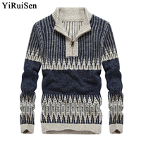 YIRUISEN Brand Christmas Sweater Men 2017 New Winter Mens Thick Knitted Pullover Fashion Pull Homme Autumn
