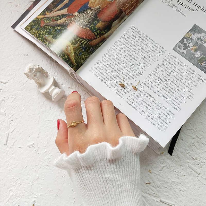 Peri'sBox Minimalist 925 เงินสเตอร์ลิงขนาดเล็กแหวนเปิด STACK แหวนส่วนบุคคลเริ่มต้นซ้อนแหวน Bijoux