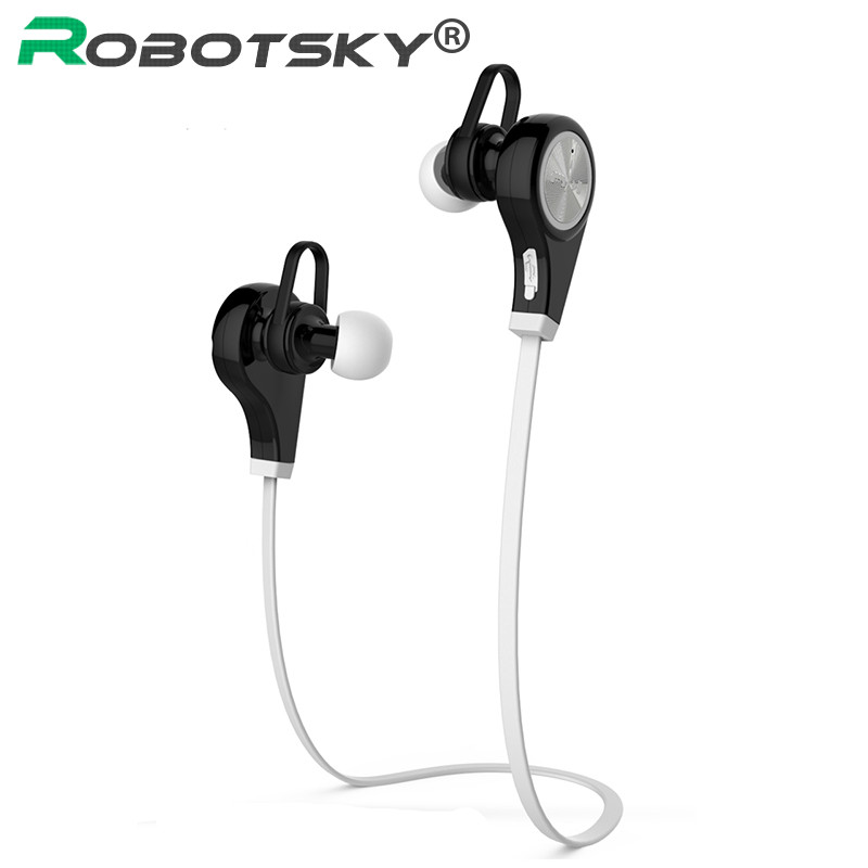 Robotsky Q9 Wireless Bluetooth V4.1 Headphone Stereo Sports Bluetooth Earphone with Microphone fw1s 2016 new arrival q9 wireless bluetooth 4 1 stereo earphone sport running studio free shipping