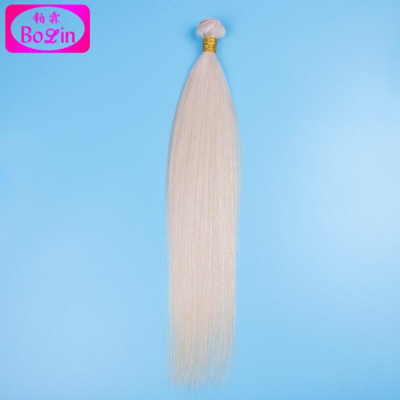 #60 Platinum Blonde Hair Extension 8A Grade Human Hair Weave Bundles 1 pc/lot Malaysian Virgin Hair Straight