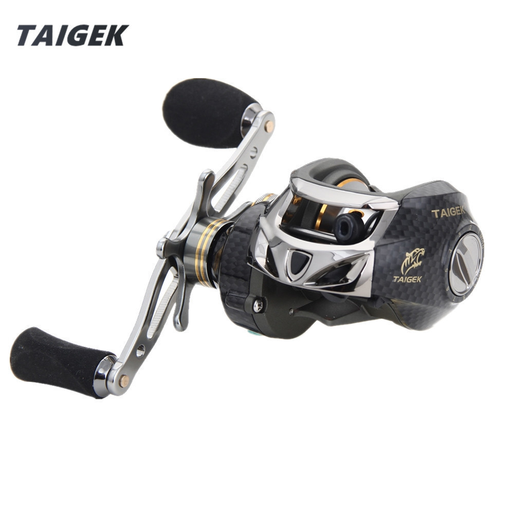 Taigek Saltwater Fishing Bait Casting Reel 19BB Speed Ratio 7.0:1 Drag Force 8kg Left Right Hand Baitcasting Fishing Reel