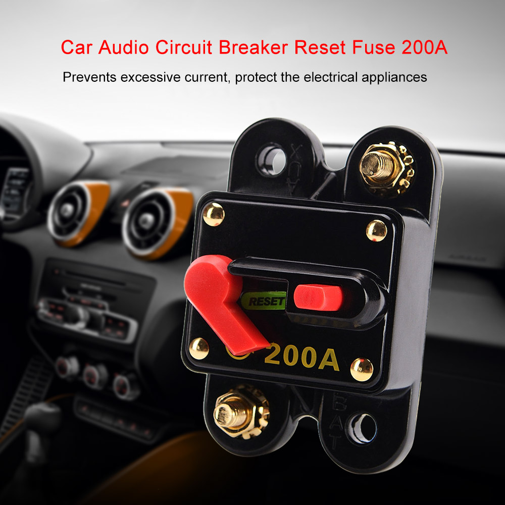Car Audio Circuit Breaker Reset Fuse 100 150200a For System Automotive Protection 12v 24v 32v In Switches Relays From Automobiles Motorcycles On