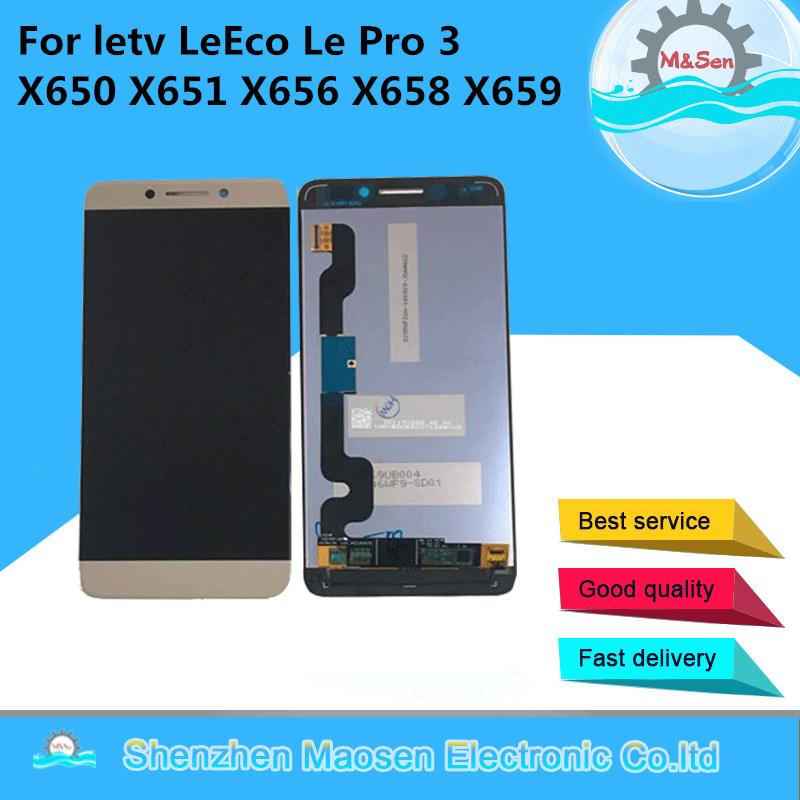 Original M&Sen For letv LeEco Le Pro 3 X650 X651 X656 X658 X659 X653 LCD screen display+touch digitizer with tools free shipping
