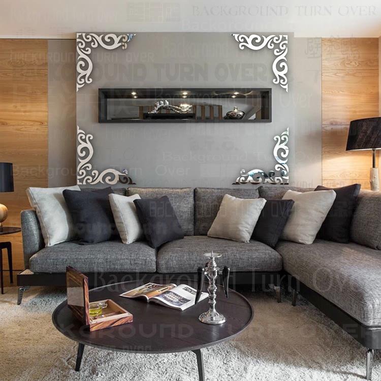 nuevo diseo de la vendimia marco de patrn diagonal tv teln de fondo espejo de pared