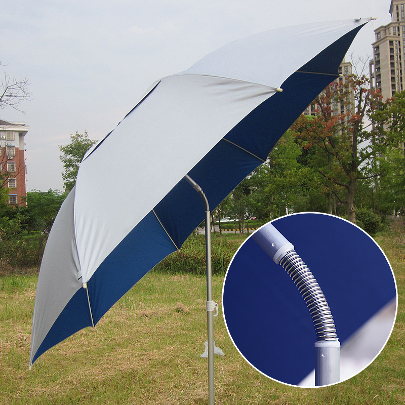8 bones Fishing umbrella 2m diameter aluminum straight umbrella sunshade fishing umbrella Oxford silver tape sun shelter retro style solid color compass pendant choker necklace for women
