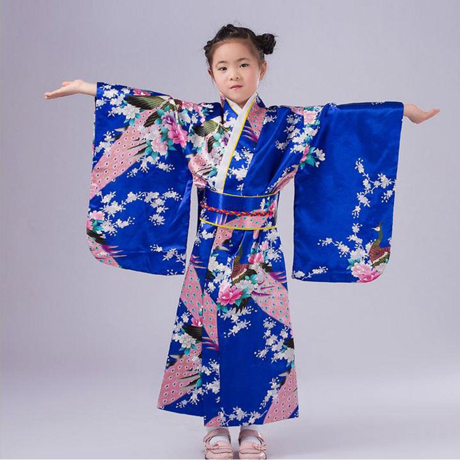 5 Colors Children Yukata Obi Vintage Japanese Gril'