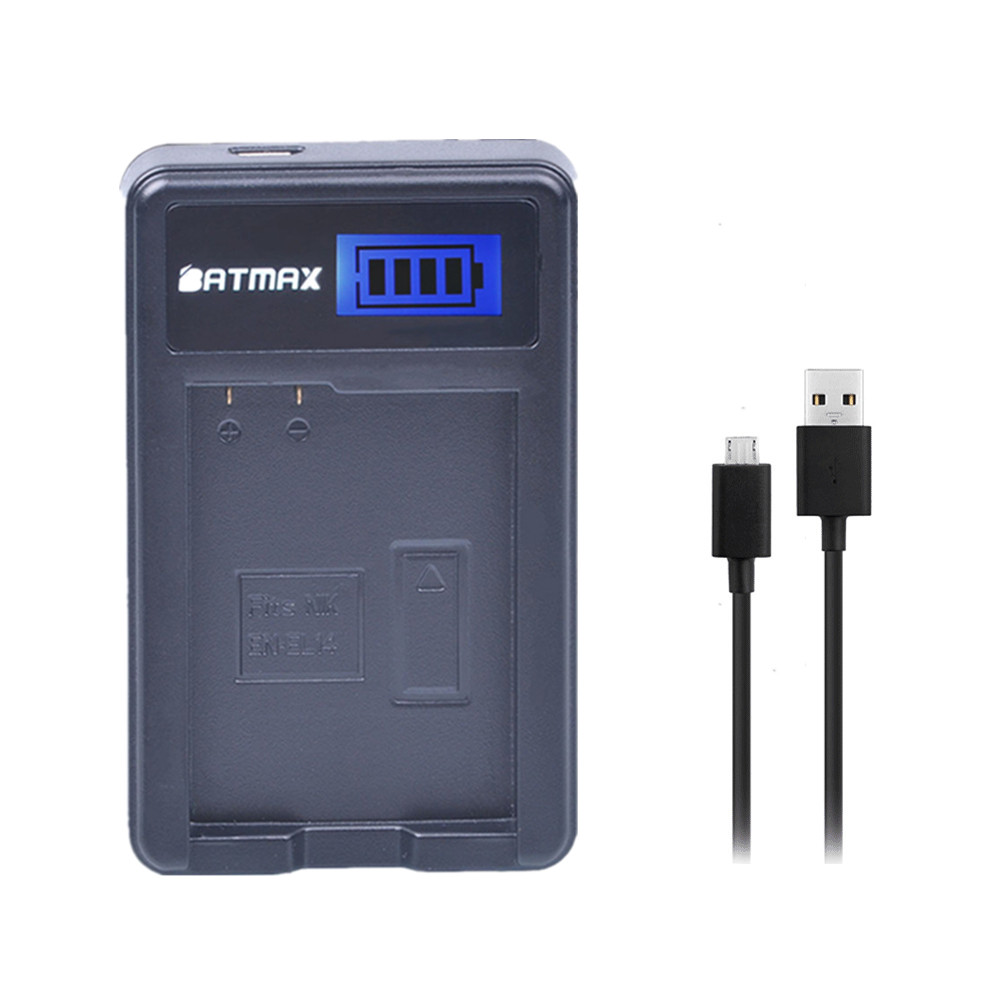 EN-EL14 EN-EL14a EN EL14 LCD Display USB Battery Charger for Nikon P7800 P770 D3400 D5500,D5300,D5200 D3200 D5600