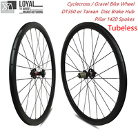 Cyclocross Carbon Wheelset Tubeless 30mm 38mm 47mm 50mm 60mm Depth Disc Brake Hub Gravel Bike Cycle Cross Carbon Wheels