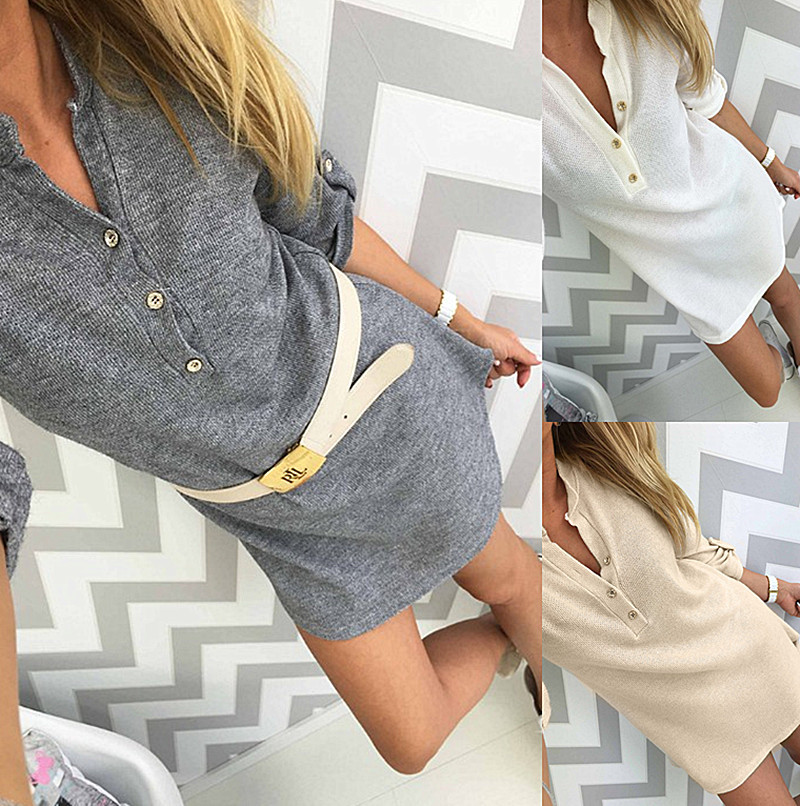 KAYWIDE Authority store KAYWIDE 2016 Women Dresses Series Autumn Half Sleeve Casual Knitwear Sweater Knitwear Winter Dress For Women A16329