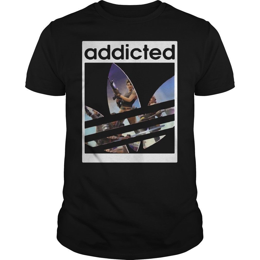 Addicted fort T Shirt Black Tee M L 234XL XXL F084 Free shipping Harajuku Tops t shirt Fashion Classic Unique t-Shirt