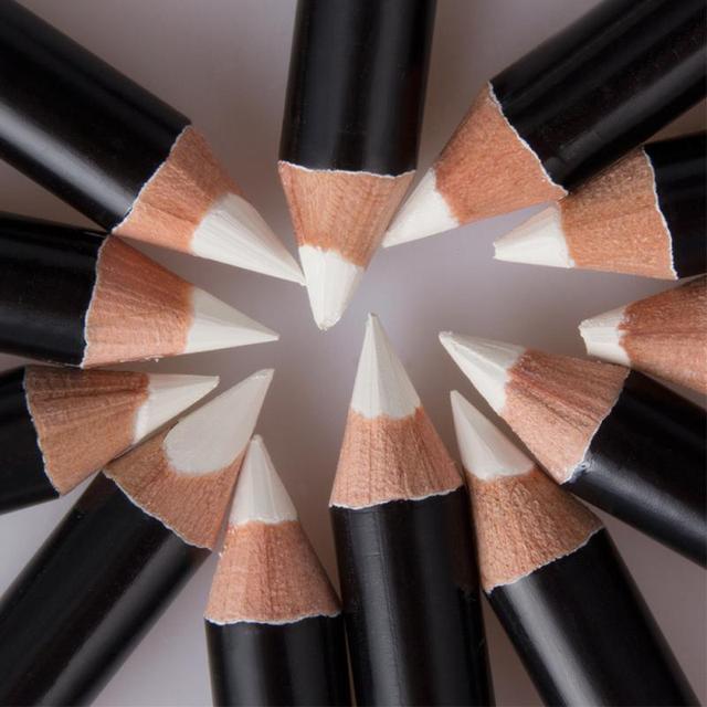 12PCS/Lot white Make Up Beauty Pen Eyeliner Eye Liner Pencil Eyebrow Eyeshadow Cosmetics Eyes Makeup Tools 2