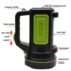 Image 5 - גבוהה כוח LED פנס USB נטענת פלאש אור לפידים מובנה סוללה צד אור לדיג חיצוני קמפינג Protable