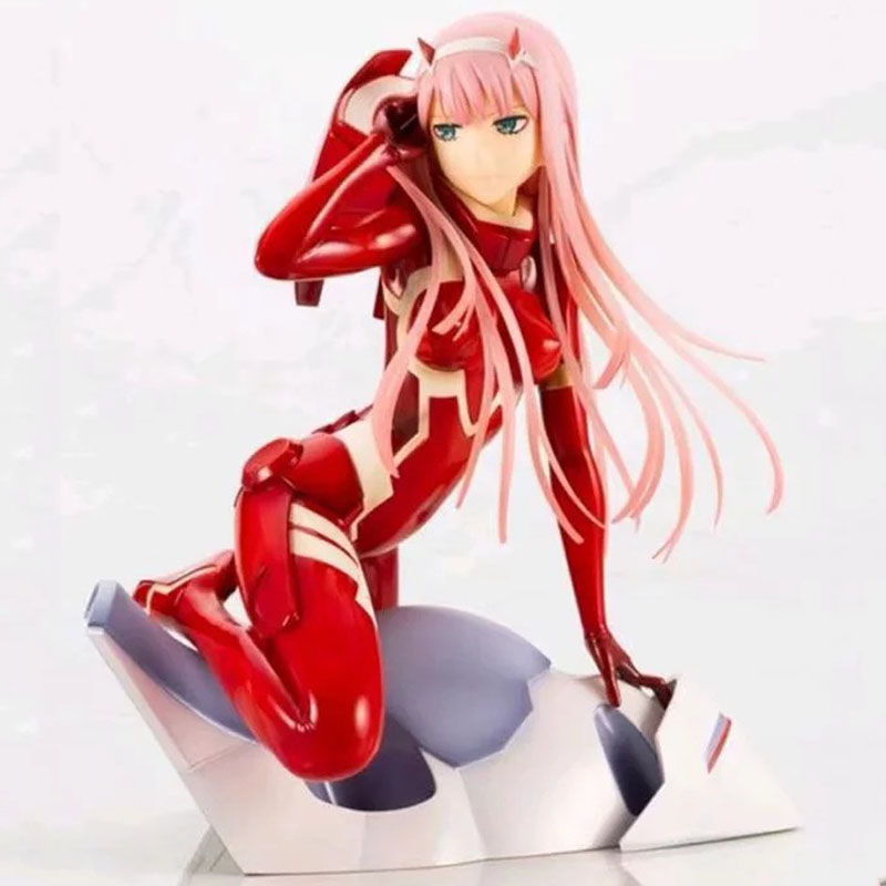 16cm Darling In The Franxx Figure Zero Two 02 Red Clothes Sexy Girls Anime Pvc Action Figures Toys Anime Figure Toys For Gifts in Action Toy Figures from Toys Hobbies