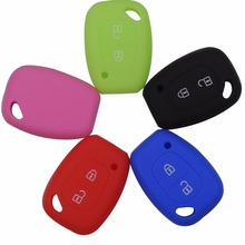 Remote 2 Buttons Car Key Silicone Cover Skin For Renault Trafic Vauxhall Opel Vivaro Nissan Primastar Flip Fob Keychain