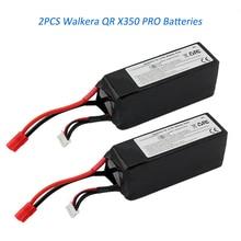 2 unids/lote li-polymer batería de lipo 11.1 v 5200 mah 3 s 15c para walkera qr x350 pro rc piezas del helicóptero drone quadcopter batería