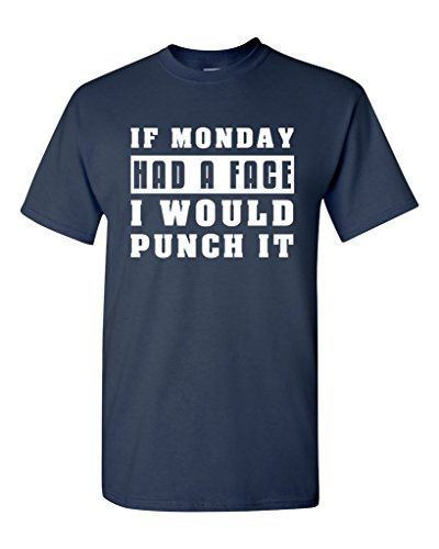 Cheap Custom T Shirt Printing O-Neck Novelty Short Sleeve  If Monday Had A Face I Would Punch It Lazy Funny Tees
