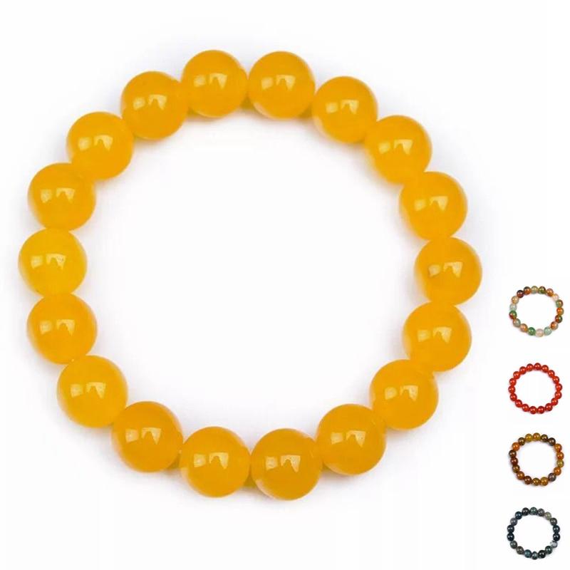 8-10MM φυσικό αχάτη κεχριμπάρι - Κοσμήματα - Φωτογραφία 1