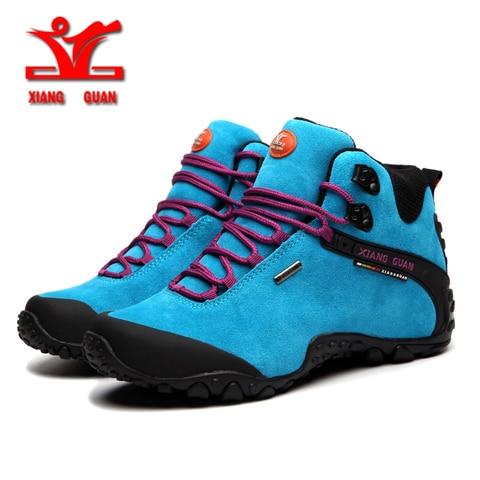 XIANGGUAN 2018 Women Hiking Shoes Outdoor Hunting Boots Waterproof Mountaine Shoes For Women Climbing shoes Free Shipping Multan