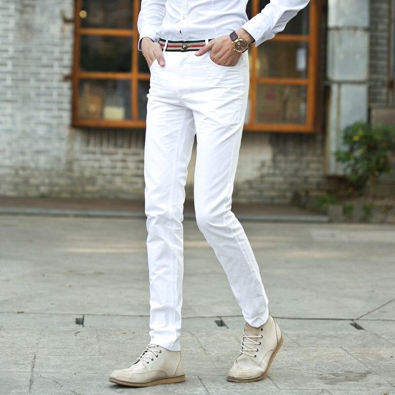 big size 28-42 / 2018 New fashion boutique cotton black white slim leisure pants / Mens high-end casual business pants trousers