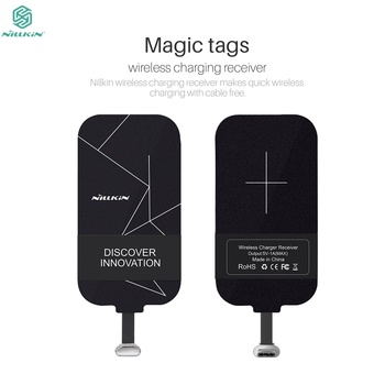 Nillkin universal wireless charging receiver adapter Magic Tags receiver coil For iPhone 7 8 plus 6 6s For Xiaomi mi9 Oneplus 7