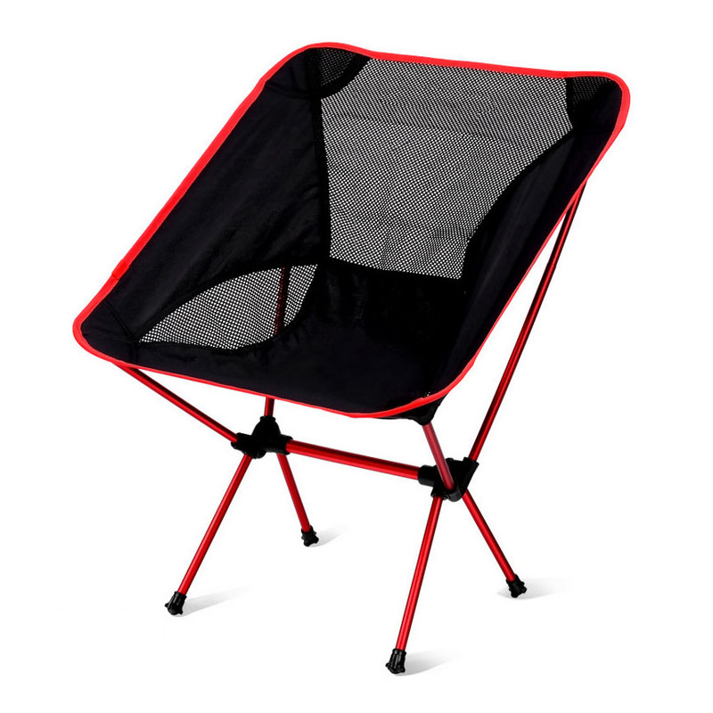 Outdoor folding chair portable ultra-light moon chair aviation aluminum alloy fishing stool leisure writing back chair barbecue outdoor folding chair picnic chair ultra portable fishing chair sketching stool director