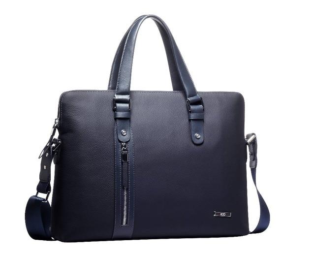 bc21c9bce41 100 brands Leather man bag business briefcase handbag cross section  shoulder bag Messenger bag men s leather computer bag
