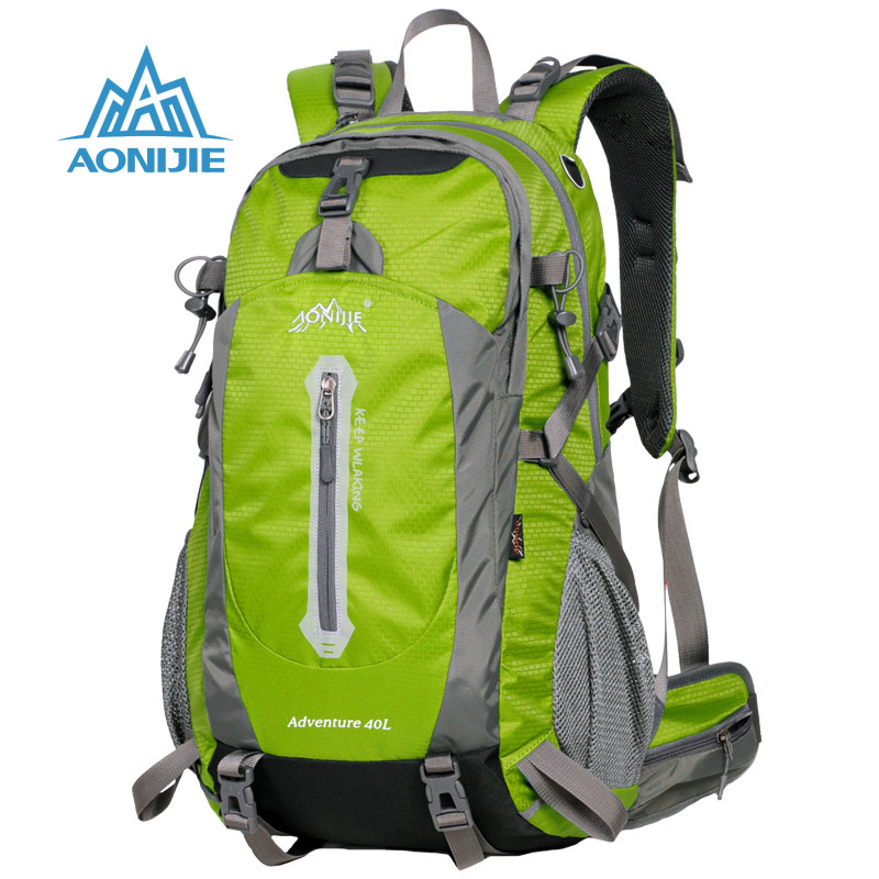 AONIJIE 40L Outdoor Sports Bag Professional Climbing Backpack High Capacity Climbing Bags Durable Hiking Trekking Camping Bag multifunctional professional handle pulley roller gear outdoor rock climbing tyrolean traverse crossing weight carriage fit