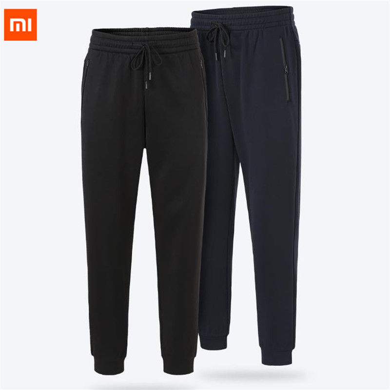 Xiaomi Uleemark male fleece knit trousers high elastic fabric inner warm fleece anti static knit Casual