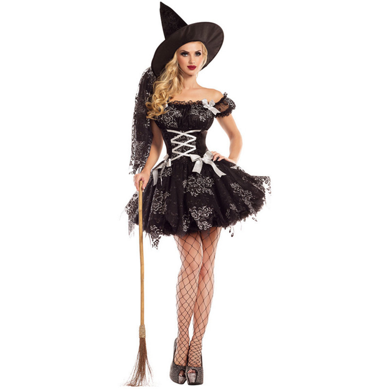 2018 new Adult Witch Costume temperament Womens Magic Moment Costume Adult sexy witch cosplay costumes for halloween party dress