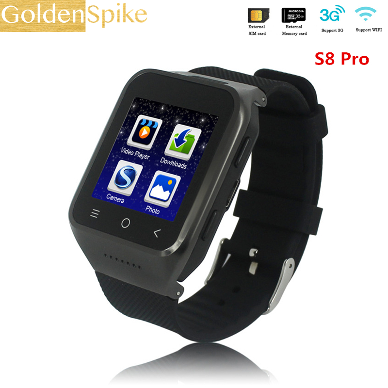 3G Clock Android Smart Watches S8 ProSupport TD Screen 2MP HD Camera TF 32G Speaker SIM