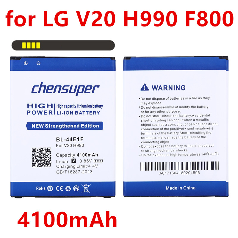 High capacity 4100mAh BL-44E1F Replacement For LG V20 battery H990 F800 battery