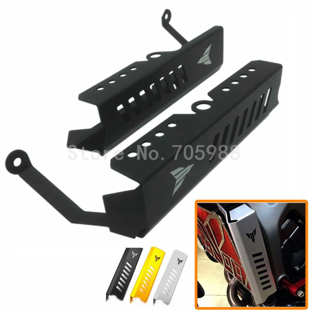 New Black Motorcycle Aluminum Radiator Grille Side Cover Guard Protector For Yamaha MT 09 FZ 09 2013 2014 2015 2016 motorcycle radiator protective cover grill guard grille protector for kawasaki z1000sx ninja 1000 2011 2012 2013 2014 2015 2016