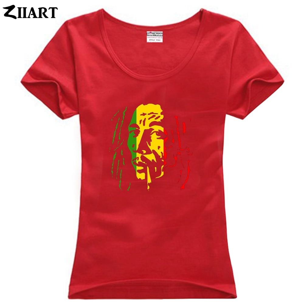 bob marley Smoking cigarette couple clothes girl woman female o-neck cotton short-sleeve T-shirt