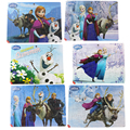6pcs/lot Disney Frozen Cartoon Puzzle 40 pieces Paperboard Jigsaw Puzzles Birthday Gift Children Early Education Free Shipping