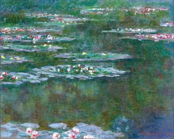 High quality Oil painting Canvas Reproductions Water Lilies (1904)1128  By Claude Monet hand painted