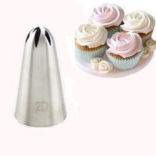 #2D Large Size Stainless Steel Rose Flower Cream Piping nozzles Cupcake Nozzles Baking Decoration cake decorating tools