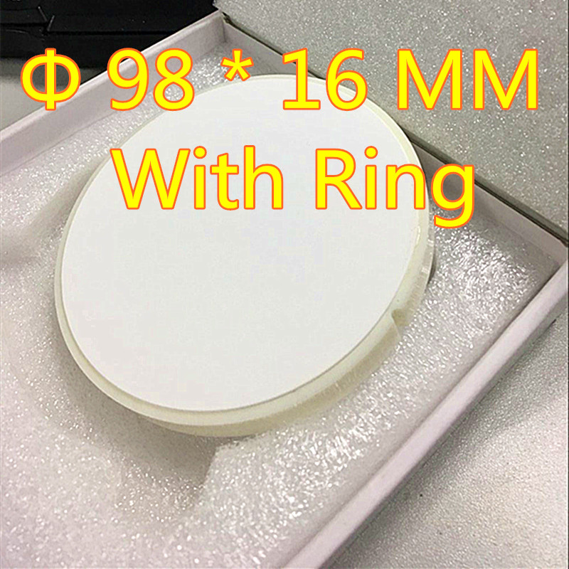 Wholesale 10 Pieces OD 98*16 MM Dental Zirconia Ceramic Blocks With Plastic Ring Outside For Open CADCAM Milling System Denture