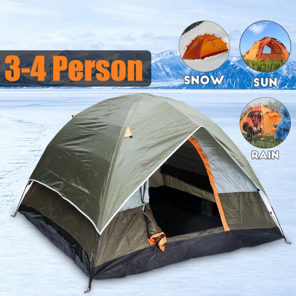 3-4 человека ветрозащитная кемпинговая палатка двухслойная водостойкая открытая анти-УФ туристические палатки для наружного туризма пляж п...