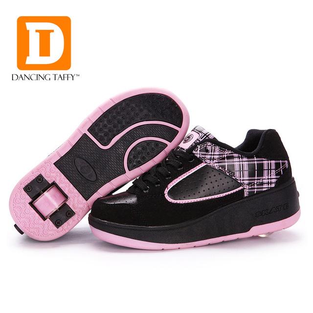 New fasion crianças shoes com rodas meninos meninas de patins shoes para crianças sapatilhas com rodas de cavalinhos shoes tamanho da ue 29-40