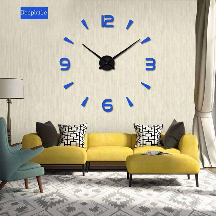new home decoration big mirror wall clock modern design diy large decorative wall clocks watch