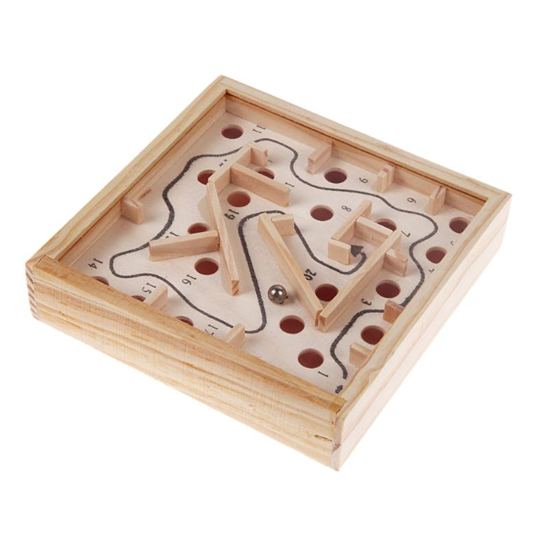 Montesori Educational Classic Puzzle Toy Kids Intellectual Development Wooden Chessboard Maze Toy Children's Funny Birthday Gift