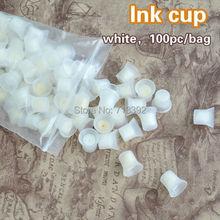 100pcs / bag tazas permanentes profesionales del pigmento de la tinta del maquillaje con la esponja