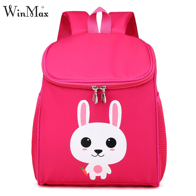 36917035cf 2018 Girls Boys Animal Rabbit Lion School Backpacks Kids 3D Cute Cartoon  School Bags for Children Book Schoolbag Mochila Escolar-in School Bags from  ...