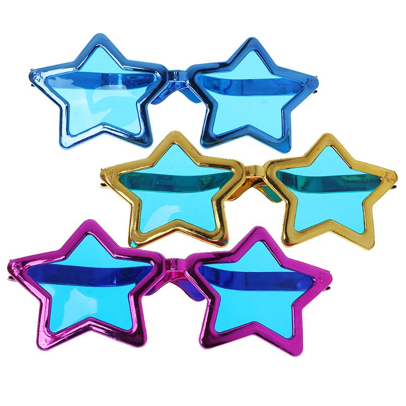 Funny Shiny Star Metallic Glasses Photo Booth Props Party  Birthday Supplies Decoration