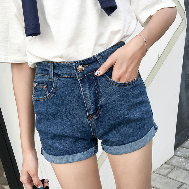 Popular Cuffed High Waisted Denim Shorts-Buy Cheap Cuffed High ...
