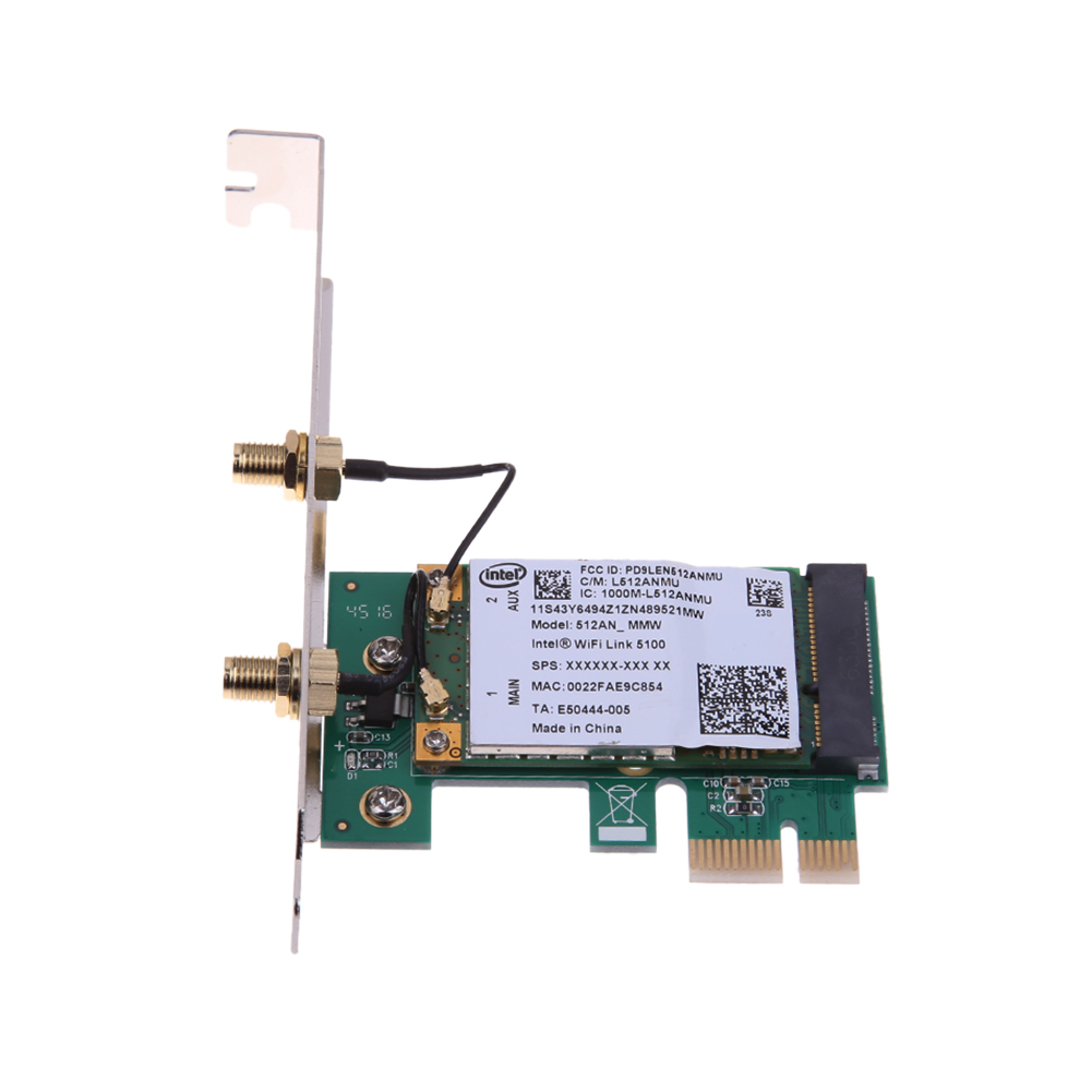 300Mbps Dual Band WiFi Wireless PCI-E X1 Adapter Desktop Network Card for Intel 5300 Chipset Networking Tools